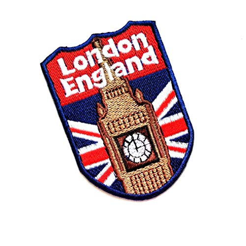 "3"" X 2"" Fashion ENGLAND SHIELD FLAG UK GB British Patch logo jacket t-shirt Jeans Polo Patch Iron on Embroidered Logo Sign Badge Comics Cartoon patch by Tour les jours shop"