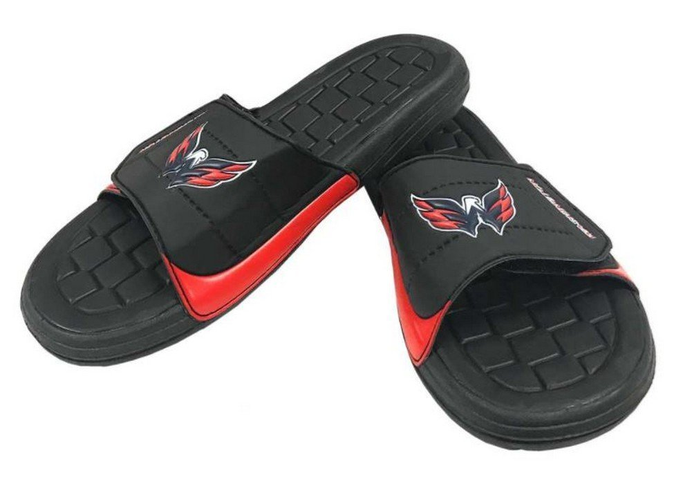 NHL Men's Hockey Slide Casual Shoes,Washington Capitals/Black,S M US