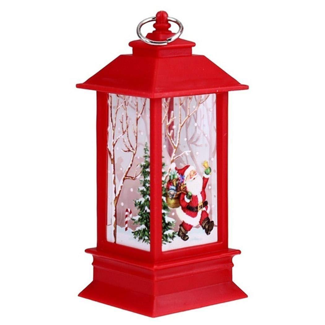 Alokie Weihnachten Laterne LED Deko, Christmas Beleuchtung Lampe Batteriebetrieben 3 x AAA für Garten Weihnachten Party Innen und Außen