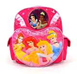 Disney Princess Backpack - Princess Wishes - 12in  Toddler Backpack - Featuring Tiana, Bell, Ariel, Cinderella, Aurora, and Snow White