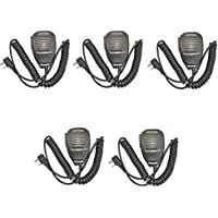 Tenq Walkie Talkie Handheld Speaker Mic, Shoulder Microphone for BaoFeng UV-5R 5RA 5RB 5RC 5RD 5RE 5REPLUS 3R+ Two Way Radio(5 Pack)