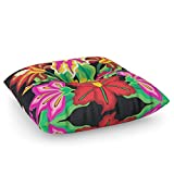 Society6 Mexican Exotic Flowers Floor Pillow Square 26'' x 26''