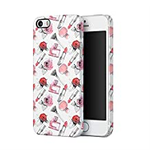 Soft Red Rose Blossom & Parfume Pattern Apple iPhone 5, iPhone 5s, iPhone SE Plastic Phone Protective Case Cover