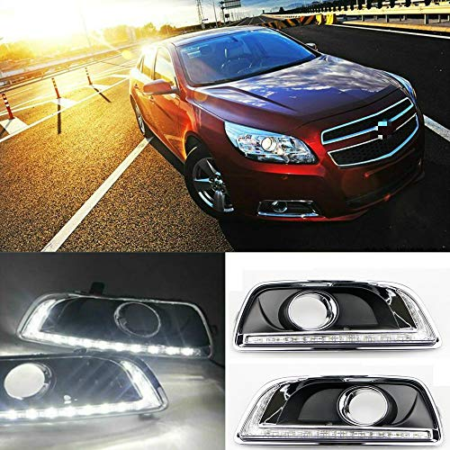 Motorfansclub LED Daytime Running Fog Lights DRL Kit Run lamp for Chevrolet Malibu 2012 2013 2014 ()