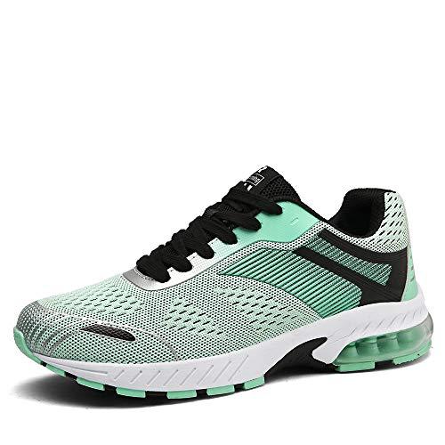 Ahico Running Shoes Women - Air Cushion Womens Tennis Shoe Lightweight Fashion Walking Sneakers Breathable Athletic Training Sport Purple Size 5