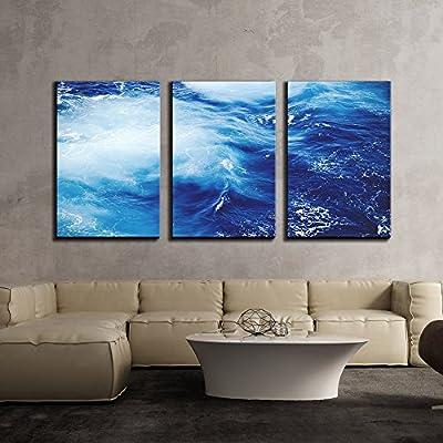 Magnificent Artisanship, Closeup of Blue Ocean x3 Panels, Made For You