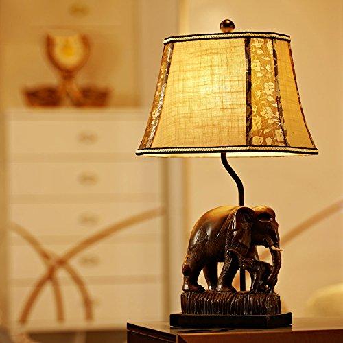 Retro Landlich Elefant Tischleuchte Schlafzimmer Wohnzimmer