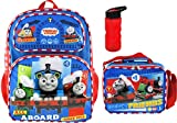 Thomas and Friends 16 Inch Deluxe 3D Backpack with Insulated Lunch Tote and Water BOttle