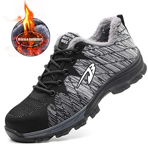 Unisexe Homme De Chaussures Femme Style Chaussure Travail gris Sneaker Fourrure Sécurité Baskets 03 Randonnée Suadeex q8pdRq