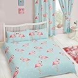 FiFi Flamingo Double Duvet Cover and Pillowcase Set Kids Bedding New