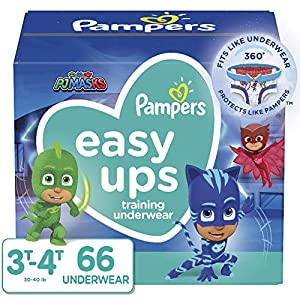 Pampers Toddler Training Underwear for Toddlers, Easy Ups Diapers, Training Pants for Boys and Girls, Size 5 (3T-4T), 66 Count, Super Pack (Packaging May Vary)
