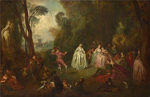 [The Perfect Effect Canvas Of Oil Painting 'Imitator Of Jean Baptiste Pater The Dance ' ,size: 8 X 12 Inch / 20 X 31 Cm ,this Amazing Art Decorative Canvas Prints Is Fit For Hallway Gallery Art And Home Artwork And] (Community Costumes Dance Type)