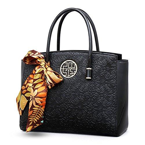 chinois moyen'S bandoulière sac Black main mère LANDONA à Sac pour gaufrée écharpe Sac femmes sac d'ge femmes Style Bqp4wI5