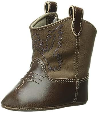 Baby Deer Western Boot (Infant),Brown,0 M US Infant