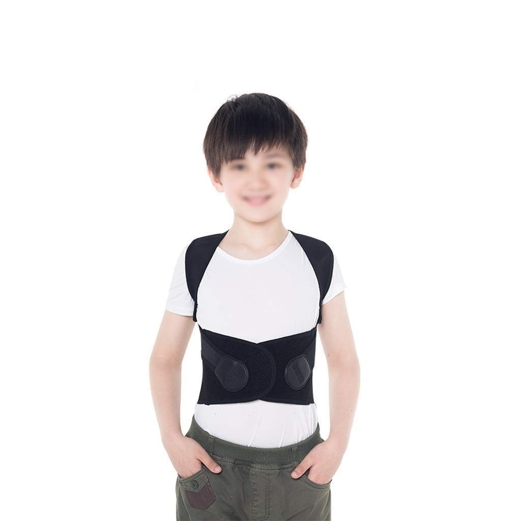 バックストレートナー 姿勢矯正ベルト、子供の姿勢ブレース調節可能な通気性の背中のサポート、ザトウクジラ成人胸部脊柱後弯のサポートの修正 XL  B07SR14QY6