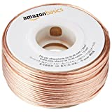 Amazon Basics SW100FT Cable de audio de 30 m (transparente, cobre)