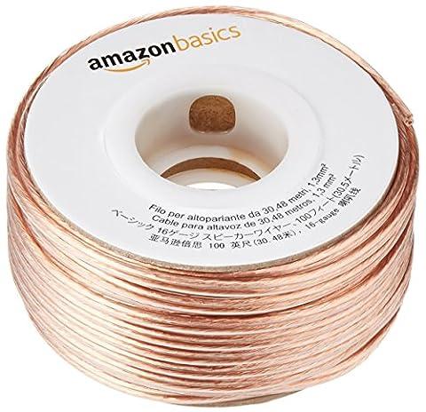 AmazonBasics 16-Gauge Speaker Wire - 100 Feet (Musical Instruments & Accessories)