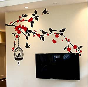 Pegatinas decorativas para pared con dise o de rbol en for Pegatinas decorativas pared