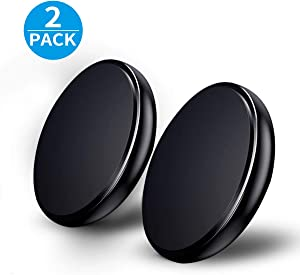 Magnetic Phone Car Mount Magnetic Car Holder Universal Stick on Dashboard Extra Slim Magnetic Car Mount for All Cellphone 2Pack