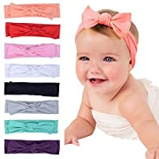 Mookiraer Newest Baby Headbands Turban Knotted, Girl's Hairbands for Newborn Childrens