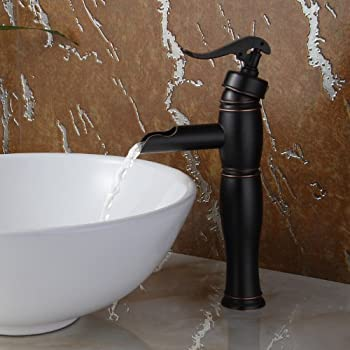 Vintage Single Handle Bathroom Water Pump Faucet Finish: Oil Rubbed ...