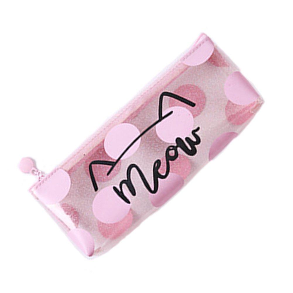 Zip lápiz-bolsa metálica Estuche metálico – maquillaje cepillo de cosméticos bolsa – transparente holográfica cremallera bolsa impermeable – suministros escolares regalo de papelería Naisidier