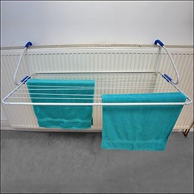 Tendedero para balcón o para estufa, blanco – 1,05 m x 0,55 m