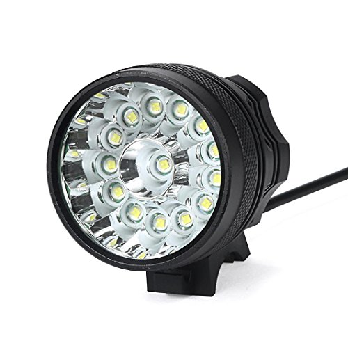 Bike Headlight ELOGOOG 14000LM 14 x XM-L T6 LED 18650 Bicycle Cycling Light Waterproof Lamp with 3 Light Modes+Battery Pack+Charger