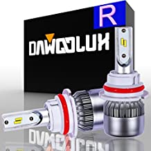 DawooLux 9007/HB5 LED Headlight Bulbs Conversion Kit-Philips Chips/Internal Driver-Dual All-in-one High/Low Beam Extremely Bright 6000K Cool White 7600 Lumens 72W, 2-Years Warranty