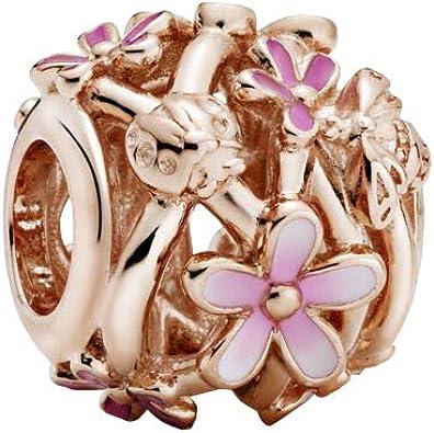 PANDORA Openwork Pink Daisy Flower, Mixed Enamel