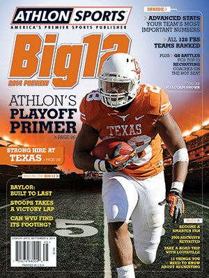 2014 Texas Longhorns Football - Athlon Sports 2014 College Football Big 12 Preview Magazine- Texas Longhorns Cover
