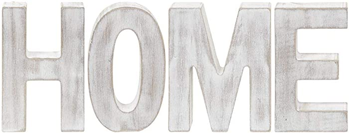 The Bridge Collection Whitewashed Wood Block Letters (Home)