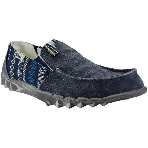 Dude Farty Inca Mens Shoes Navy