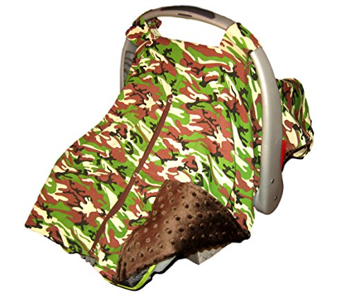 Baby Car Seat Covers: Carseat Canopy By Baxter Baby Gear - Car Seat Covers Baby Will Love! Minky Cloth Baby Car Seat Covers For Boys. Camo Car Seat Covers / Infant Car Seat Cover Camo w/ Velcro Straps by Baxter Baby Gear