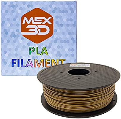 mex3d filamento PLA – 1,75 mm – 1 kg de, 1 kg, dorado, 1: Amazon ...