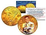 1977 ELVIS PRESLEY 24K Gold Plated Eisenhower IKE Dollar *Officially Licensed*