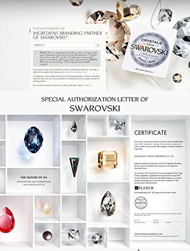 ❤Gift Packing❤ Crystal from Swarovski, Heart Earrings Tassels Pearls Eardrop Dangle Style Earrings, Birthday Birthstone Gifts for Women, Graduation Gifts by PLATO H (Image #6)