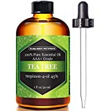 Tea Tree Essential Oil, Natural Treatment for Acne, Hair and Diffuser, 100% Pure Melaleuca Oil by Pure Body Naturals, 1 Fl.oz.