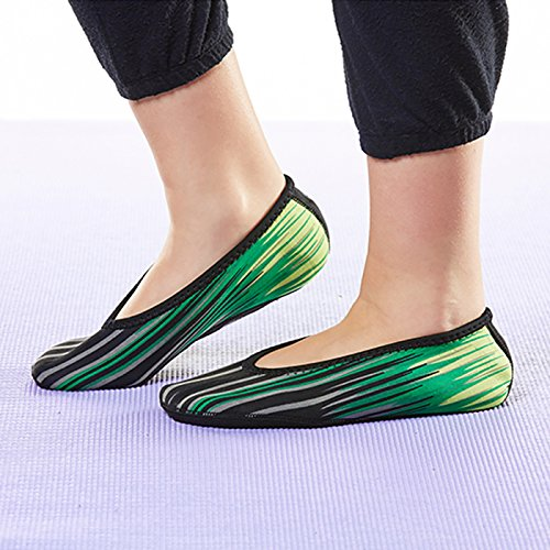 Shoes amp; Flexible Green Slipper amp; Slippers Dance Women's Extra House Exercise Best Ballet Indoor Shoes Socks Aurora Yoga Shoes Foldable Large Flats Flats Socks Nufoot Travel Slippers Shoes CtOqW