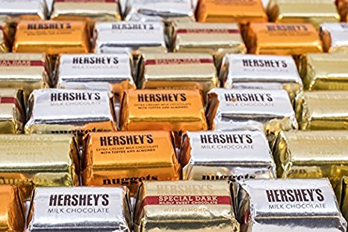 Nuggets Chocolate (Hershey's Nuggets Chocolates Assortment 145 Pieces Includes Hershey's Special Dark, Extra Creamy Milk Chocolate With Toffee And Almonds, Milk Chocolate, And Milk Chocolate With Almonds)