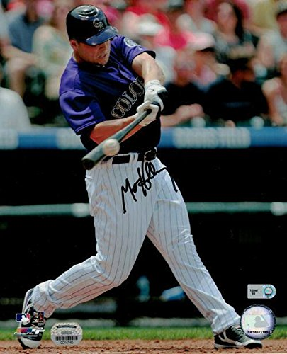 Autographed Matt Holliday Photograph - 8x10 Purple Jersey 11646 - Autographed MLB Photos