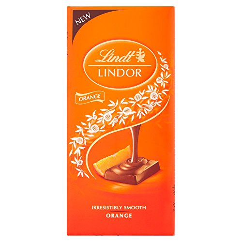 (Lindt Lindor Orange Chocolate Bar 100g)