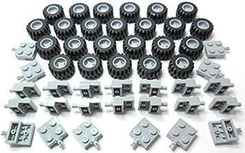 UK Lego Wheels And Axles Bundle Set Grey White Car Van Bus Truck Vehicle