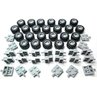 LEGO City - Wheel, Tire and Axle-Set Grey - 72 Pieces. Delivery as Illustrated in Blister-Pack