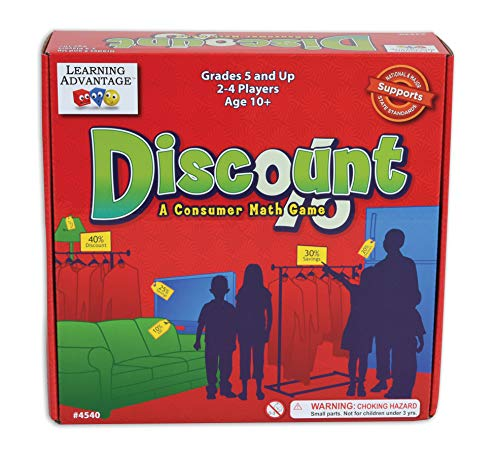 Learning Advantage Discount - Consumer Math Game for Kids - Teach Money, Fractions, Percentages, Critical Thinking and Saving Skills