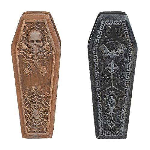 (Department 56 Village Collections Accessories Halloween Ghastly Coffins Figurines, 0.87