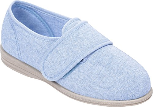 Cosyfeet Jenny Shoes - Extra Roomy (Eeeee+ Width Fitting) Pale Blue Cotton-mix j6ECcBsyJh