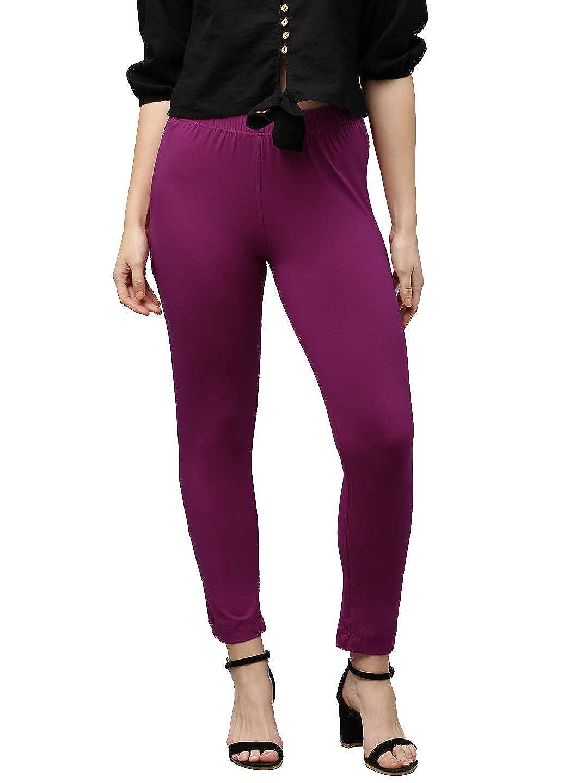 Lux Lyra Women's Straight Pant Slim (LYRA_KURTIPANT_1PC_HOT Rani_Free Size)