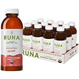 RUNA Clean Energy Organic Guayusa Iced Tea, Unsweetened Guava, 16.9 Ounce (Pack of 12)