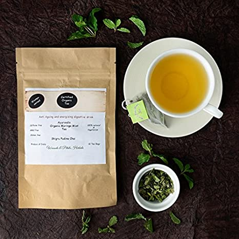 Buy Moringa Mint Tea Ayurvedic Shigru Pudina Chai I Weight Loss
